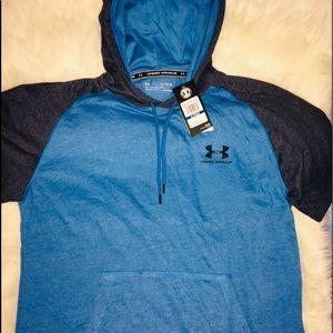 Under Armour Blue Men's Short Sleeve Hoodie sz XL
